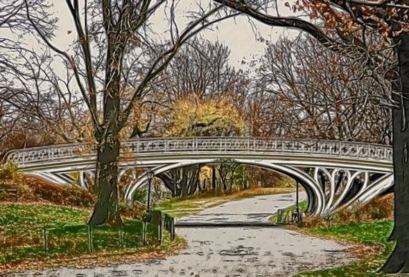 Gothic Bridge of Central Park